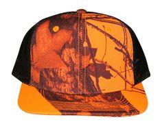 fef0c238c85c5 Mossy Oak Blaze Orange Cap Mesh Snapback Flat or Curved Brim Visor Tru –  Camo Chique