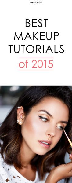 2015's best makeup tutorials Best Makeup Tutorials, Face Powder, Makeup Brush Set, Eyeliner, Beauty Makeup, Blush, Set Of Makeup Brushes, Blusher Brush, Eye Liner