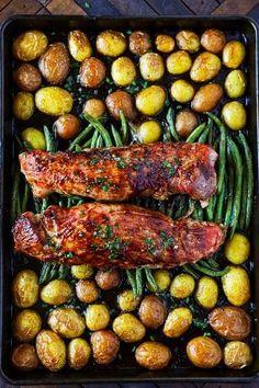 The Best Pork Tenderloin Recipe This Pork Tenderloin Recipe is a flavor packed easy sheet pan dinner. The Best Pork Tenderloin Recipe This Pork Tenderloin Recipe is a flavor packed easy sheet pan dinner. Best Pork Tenderloin Recipe, Healthy Pork Tenderloin Recipes, Tenderloin Pork, Pork Tenderloins, Pork Chops, Pork Fillet, One Pan Dinner, Sheet Pan Dinner, Roast Dinner
