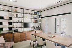 Patricia Urquiola creates workspace for designers inside Laufen's new Madrid showroom