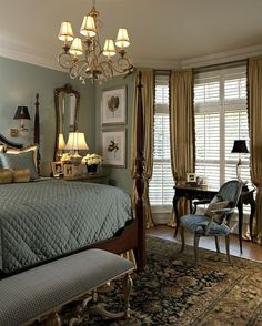 Beautiful Bedroom - Wall Colors, Curtain, Carpet, Molding All Working Together #Irvine #RealEstate #International #Bedroom http://www.IrvineHomeBlog.com