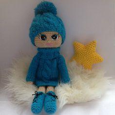 Crochet happy doll Tasha, Crochet doll, Doll stuffed, Doll art, Doll decorative, Doll home decoration,  Handmade, Toy by HappyToysDolls on Etsy https://www.etsy.com/listing/262726250/crochet-happy-doll-tasha-crochet-doll