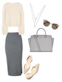 """""""Untitled #49"""" by dionche on Polyvore featuring Paul Andrew, Whistles, Chloé, BCBGeneration, MICHAEL Michael Kors and Fendi"""
