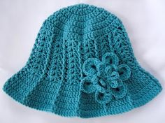 Another take on her Ridge Hat With Brim (see her sidebar for free pattern)