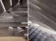peter haimerl tilts stone-clad concert hall in blaibach, germany