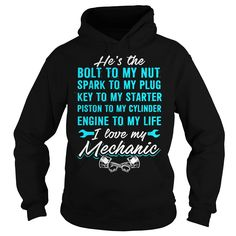 02 MECHANIC Hoodie & -Tshirt FRONT #grandpashirt #motherday #fatherday #christmas