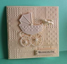 Baby card with Marianne die.