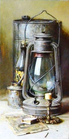 Old Lanterns, Antique Lanterns, Antique Lamps, Hanging Lanterns, Vintage Lamps, Primitive Lighting, Hyper Realistic Paintings, Artsy Photos, Antique Paint
