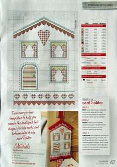 Card Holder and Advent Calendar by Lucie Heaton CrossStitcher Issue 245 October 2011  Hardcopy
