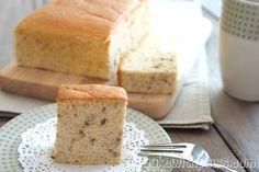 Banana Ogura Cake / Chiffon Cake [mashed bananas, cake flour, eggs, cream of tartar, corn oil]