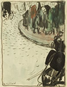 Édouard Vuillard, Street Scene, 1892, ink and ink wash on paper