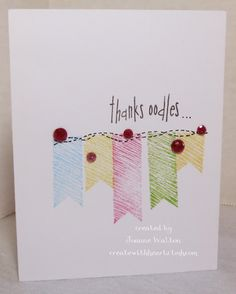 """OOdles of Doodles card.  Totally pin""""lifted"""""""