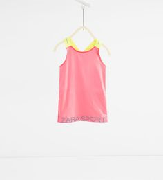 Neon top with elastics