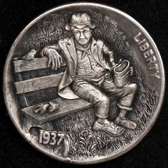 Really want excellent ideas on investing in gold? Head out to our great info! Old Coins, Rare Coins, Pewter Art, Hobo Nickel, Coin Art, Coin Collecting, Art Forms, Metal Art, Precious Metals