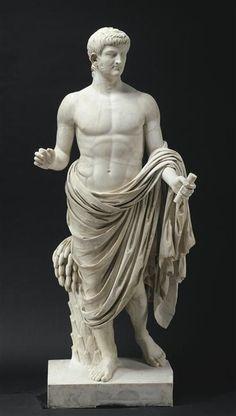 Nero Drusus, Roman statue (marble), 1st century AD, (Musée du Louvre, Paris).