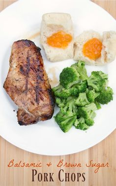 Balsamic & Brown Sugar Pork Chops ~ 31 Days of FreezEasy Meals from 5DollarDinners.com