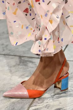 Spring 2018 Shoe Trends - Shoe Runway Trends Spring 2018 || terrazzo tile print confetti pants