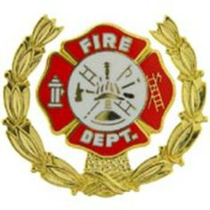 "Fire Dept. Shield with Wreath Pin 1"" by FindingKing. $8.99. This is a new Fire Dept. Shield with Wreath Pin 1"""
