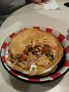 Inside the chicken pot pie
