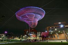 Giant Net Sculptures Color the Sky - Janet Eichman.