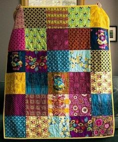 Colchas Quilt, Scrappy Quilts, Easy Quilts, Quilt Blocks, Star Quilts, Quilting Projects, Quilting Designs, Sewing Projects, Quilting Ideas