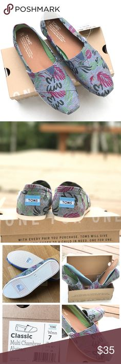 TOMS Multi Chambray Abstract NWB - removable insole, more arch support and traction than regular TOMS TOMS Shoes Sneakers