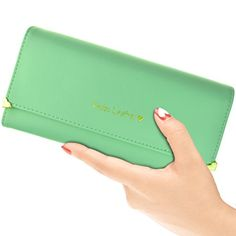 Lystaii Womens Lady Leather Wallet Long Clutch Credit Card Holder Organizer Purse ** Click on the image for additional details.