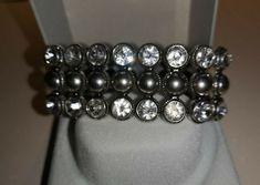 * * * Armband mit Straßkristallen * * * Diamond Earrings, Ebay, Jewelry, Fashion, Fashion Jewelry, Crystals, Watches, Moda, Jewlery