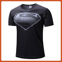 HOCOOL Men's Compression Sports Tee,Super Hero Quick-drying Fitness Shirt 2XL - Sports shirts (*Partner-Link)