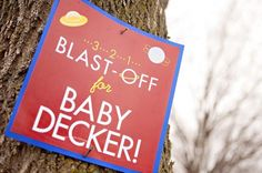 Bump Smitten: Real Baby Shower: Blast Off
