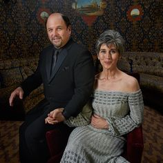 Jason Alexander and his wife Daena E. Title strike a pose at the #TodayTix Tony Awards photo lounge at the O&M after-party at The Carlyle. Photo by Amy Arbus.