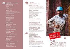 Storie di un attimo, festival popolare della fotografia. Olbia 9-12 Ottobre 2014 Mostre,workshop, incontri, mercatino delle fotocamere usate e d'epoca e molto ancora. Per info storiediunattimo@gmail.com