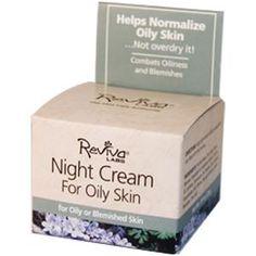 Reviva Labs, Night Cream for Oily Skin, 3/4 oz (21 g) - iHerb.com