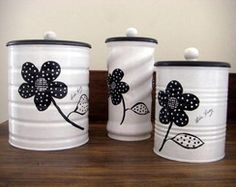 50 Crafts and Projects Using Recycled, Repurposed, & Upcycled Cans {Saturday Inspiration & Ideas « Decor Diy Best Tin Can Crafts, Jar Crafts, Diy And Crafts, Recycle Cans, Diy Cans, Formula Can Crafts, Baby Formula Cans, Tin Can Art, Pot A Crayon