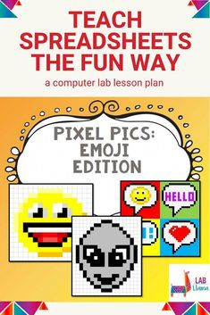 Pixel art meets spreadsheets! This computer lab lessons takes the intimidation out of spreadsheet software by introducing key vocabulary and navigation without the math and typing of data entry. Have early finishers? This lesson also works great as a time filler on a given day. #computerlab #edtech #labllama #iteachtech #elementarytech #computerlablesson Elementary Computer Lab, Computer Lab Lessons, Keyboard Lessons, Computer Science, Piano Classes, Early Finishers, Data Entry, Fun Challenges, Piano Lessons