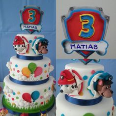 PAW PATROL CAKE by . ESLAVASCAKE Madrid/ Spain.  PAW PATROL BIRTHDAY PARTY