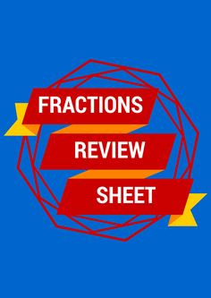 FREE Review Sheet contains the following definitions and examples: Numerator Denominator Multiple Common Multiple Least Common Multiple (LCM) Least Common Denominator (LCD) Factors Greatest Common Factor Mixed Number Improper Fraction Equivalent Fractions Converting a Mixed Number to and Improper Fractions Converting an Improper Fraction to a Mixed Number 4th Grade Fractions, Improper Fractions, Teaching Fractions, Equivalent Fractions, 5th Grade Math, Fourth Grade, Teaching Math, Math Teacher, Math Classroom