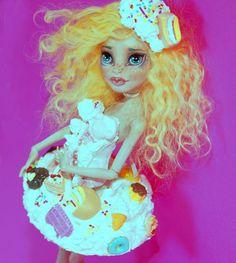 """Ch'erie"" Ooak Monster High Custom Doll repaint redress by artist Bianka  #DollswithClothingAccessories"