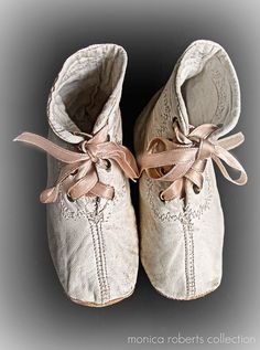 antique baby shoes...