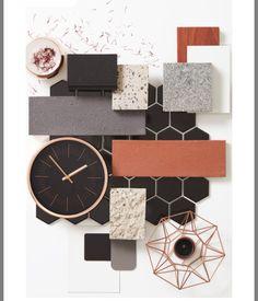 The biggest interiors and architecture colour trends for 2017 - Home Decors Mood Board Interior, Interior Design Boards, Home Interior, Colour Schemes, Color Trends, Design Trends, Colour Palettes, Interiores Design, Colorful Interiors