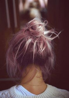 #pink #hair #bun #Ha