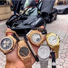 Which watch are you picking? 1 2 3 4 or by Trend Trendy Outfits Clothes Style Luxury Watches, Rolex Watches, Unique Cars, Royal Oak, Audemars Piguet, Made Goods, Free Items, Cool Watches, Luxury Lifestyle