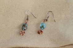Copper Spiral Earrings by Dartle on Etsy, $12.00