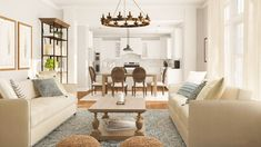 Peek inside two open living/dining room layout ideas that help create a distinct dining room 'zone' and a comfy, functional lounge/entertainment space.