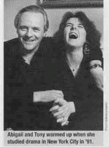 Anthony Hopkins and his daughter Abigail