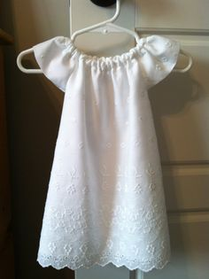 White Eyelet Flutter Sleeve Dress by MCarterDesigns on Etsy, $22.00