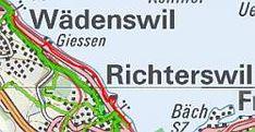 Seeuferweg Wädenswil - Richterswil, Schweizmobilplus-Karte Wanderland, Switzerland, Cards