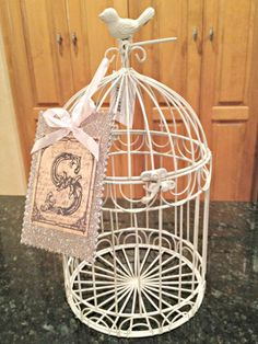 DIY Bird Cage Centerpieces maybe with flowers inside?