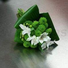 Cute Grren Wedding Flowers