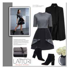 """LATTORI designer dresses"" by helenevlacho ❤ liked on Polyvore featuring Lattori, Maje, LSA International, Topshop, 7 Chi and lattori"